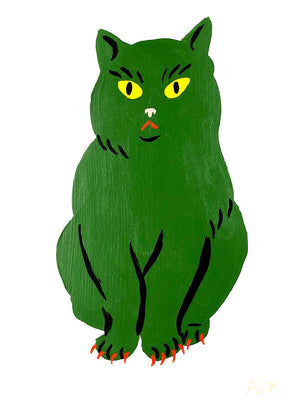 "Kristina Micotti - ""Green Cat with Red Nails"""