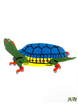 "Kristina Micotti - ""Red Eared Slider on Skates"""