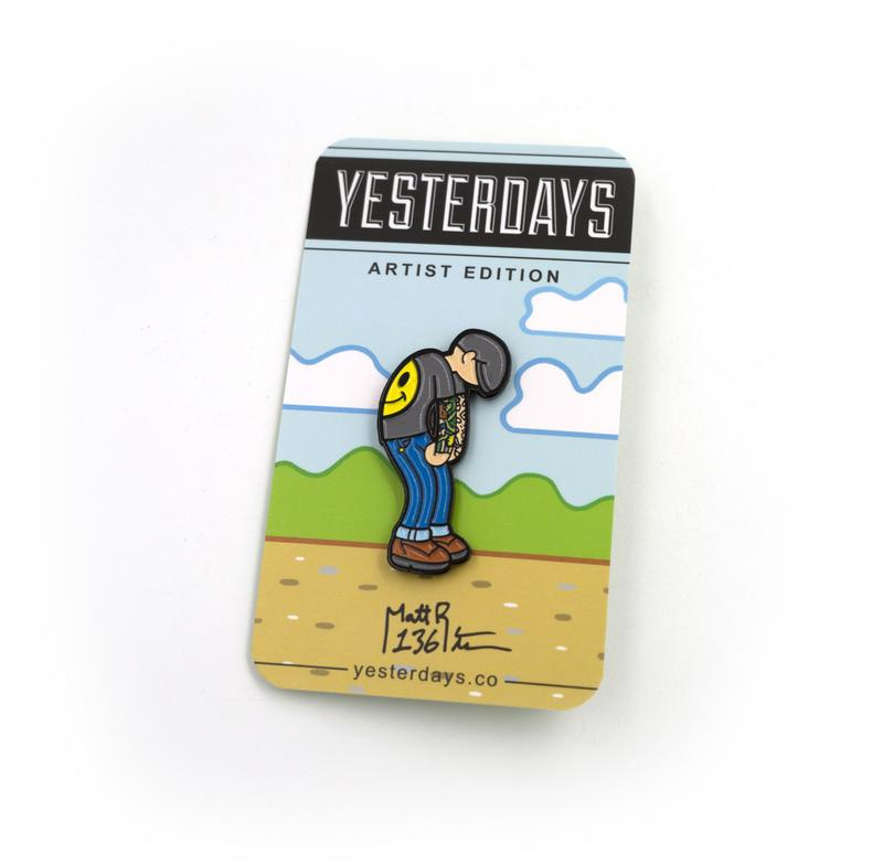 "Matt Ritchie x Yesterdays - ""Matt Ritchie Slump"" Enamel Pin"