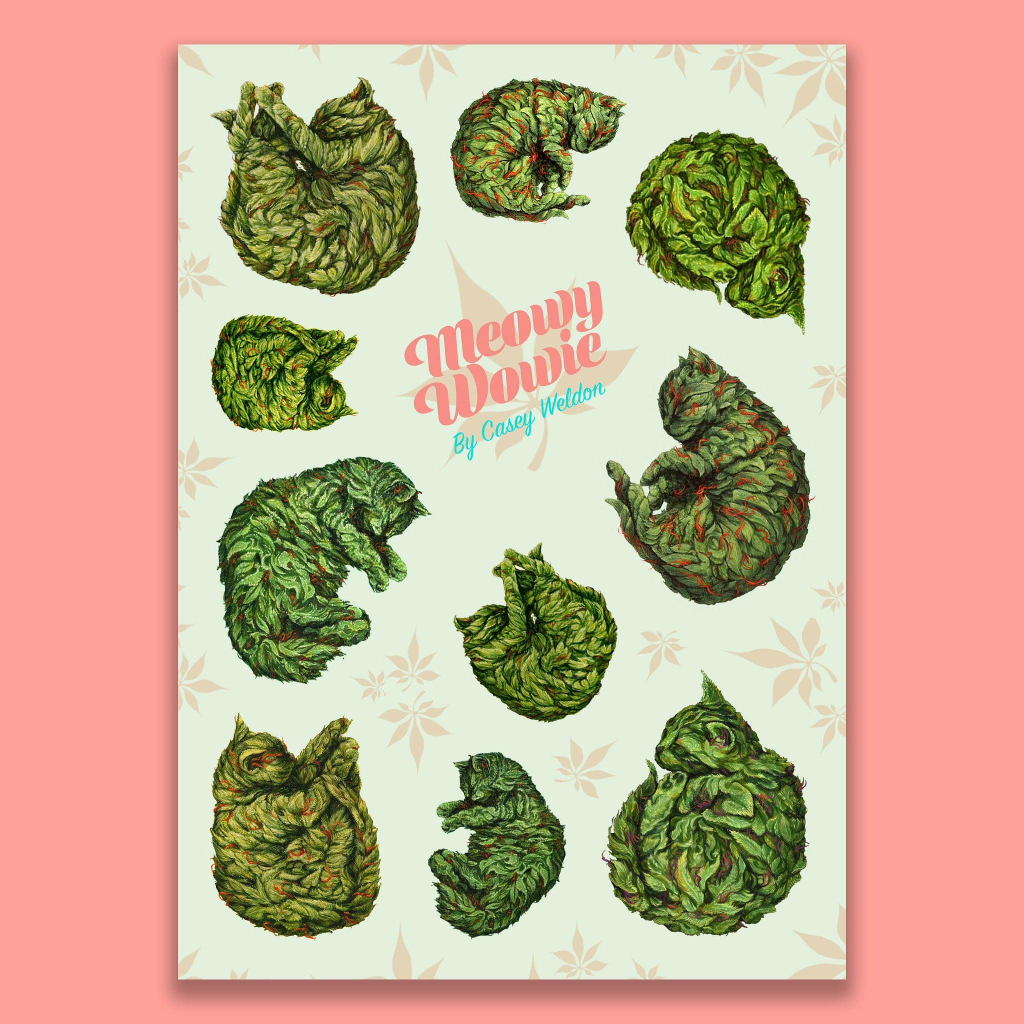 Casey Weldon - Meowy Wowie Sticker Sheet