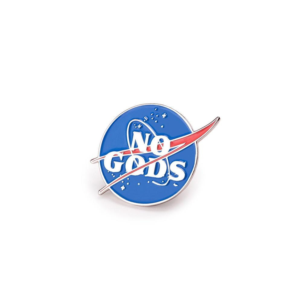 Mean Folk - No Gods Enamel Pin