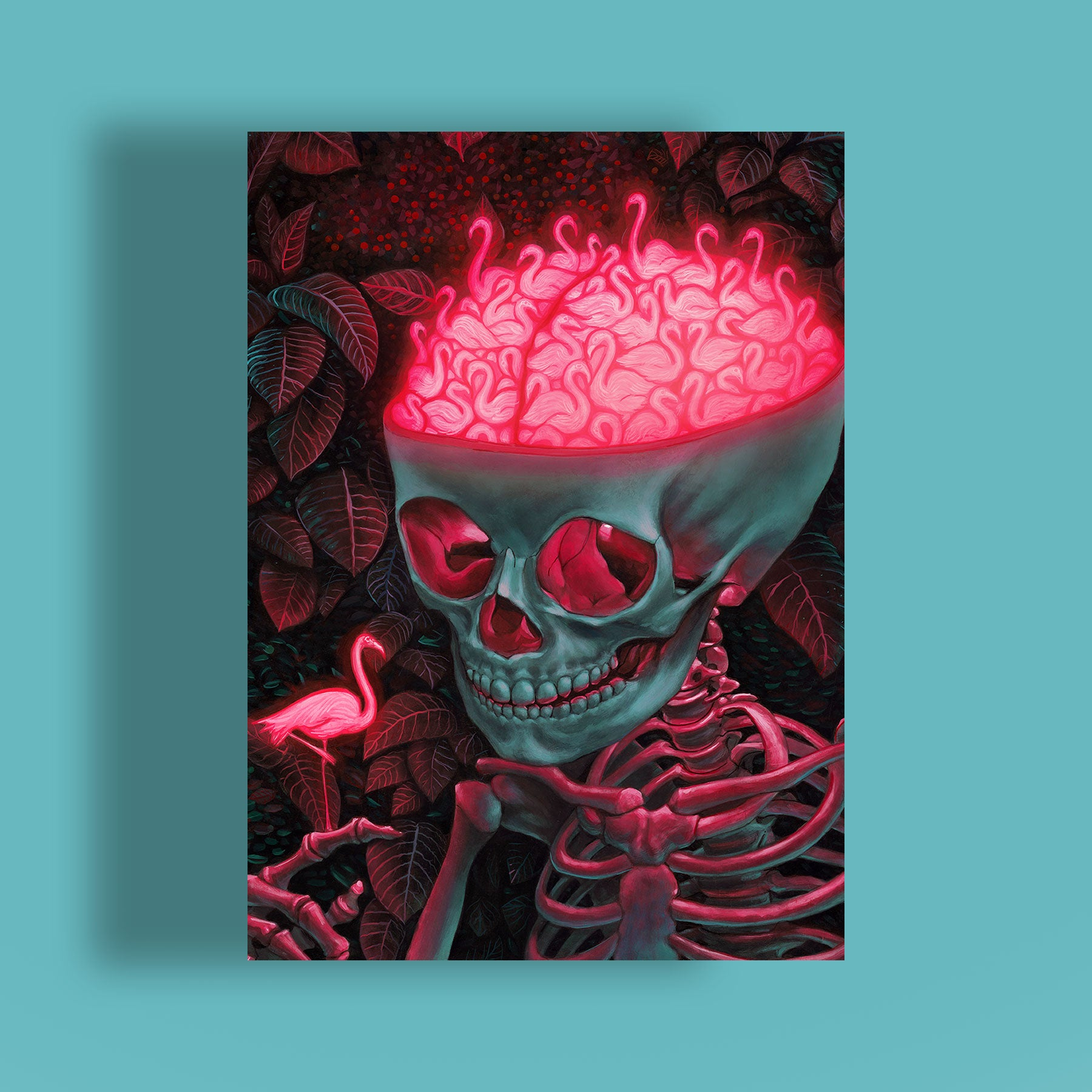 Jigsaw puzzle of a skull by Casey Weldon