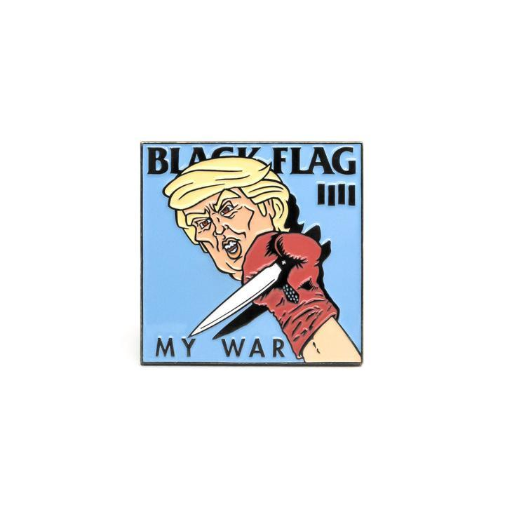 "PSA Press - ""My War"" (Black Flag/Trump) Enamel Pin"