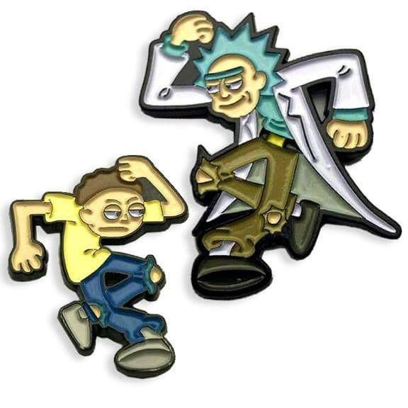 "Matt Ritchie x Yesterdays - ""No Circles, Just Jerks"" (Rick and Morty) Enamel Pin Set"