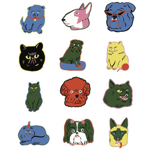 Die cut stickers by Kristina Micotti