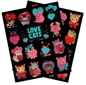 Casey Weldon - Love Cats Sticker Sheets (Set of 2)