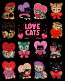 Casey Weldon - Love Cats Prints + Sticker Sheets Bundle