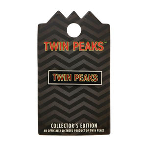 Yesterdays - Twin Peaks Nameplate Enamel Pin