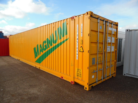 45 ft. high cube pallet wide containers