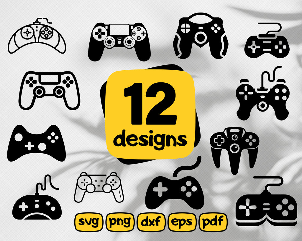 Game controller svg,Game Controller SVG/ joystick svg/ ps4/ playstation/ Clipart/ Silhouette/ Printable/ Cut Files/ cricut/ Instant Download