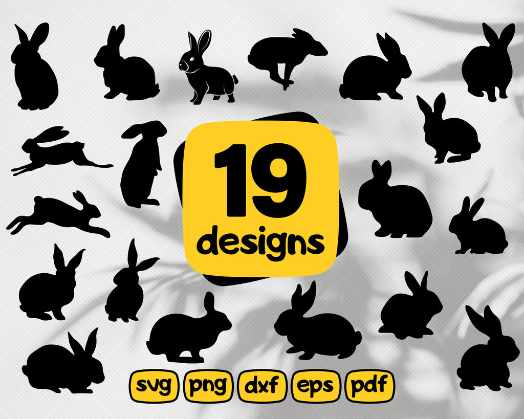 Rabbit svg, Rabbit SVG cutting files for Cricut and Silhouette Cameo - Rabbit png clipart - Rabbit dxf vector files