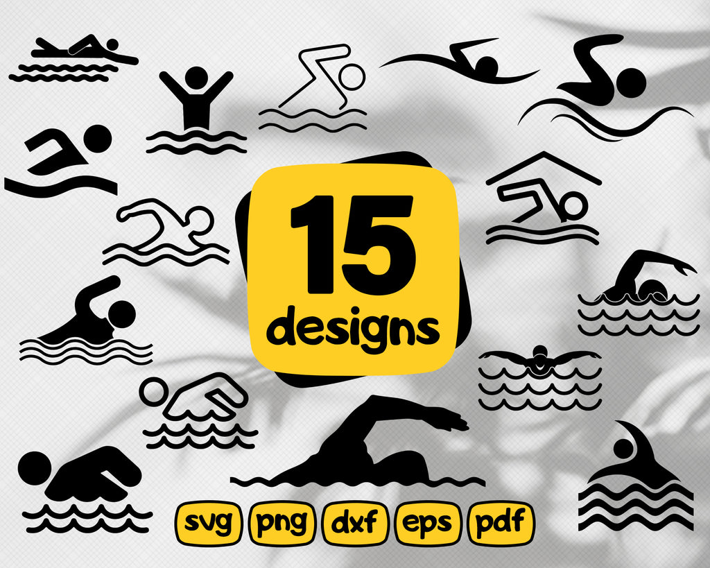 SWIMMING SVG, swimmer svg, pool svg, beach svg, swim coach svg, swimming cut file, vacation svg, iron-on, design, STENCIL, outline, monogram