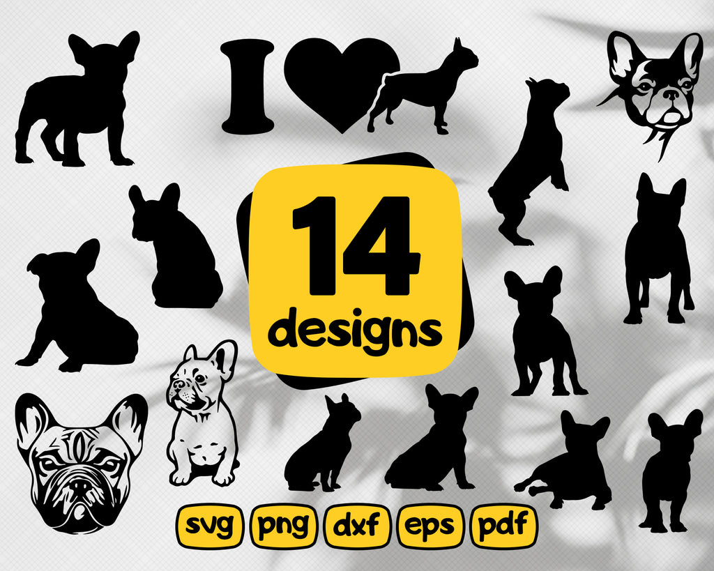 French bulldog svg, French bulldog boston terrier file, svg, ai, dxf, eps, png digital download, instant download decal cut file cricut silhouette, illustrator