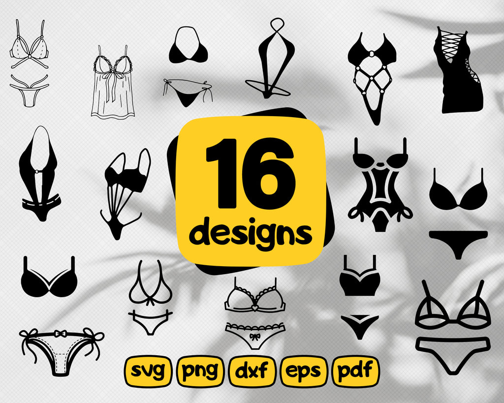 Sexy lingerie svg, Women's Lingerie SVG, Sexy Outfit, Sexy Sleepwear, Sexy Bra, Women's Underwear, Sexy Clothing, Ladies Fashion, Digital Download