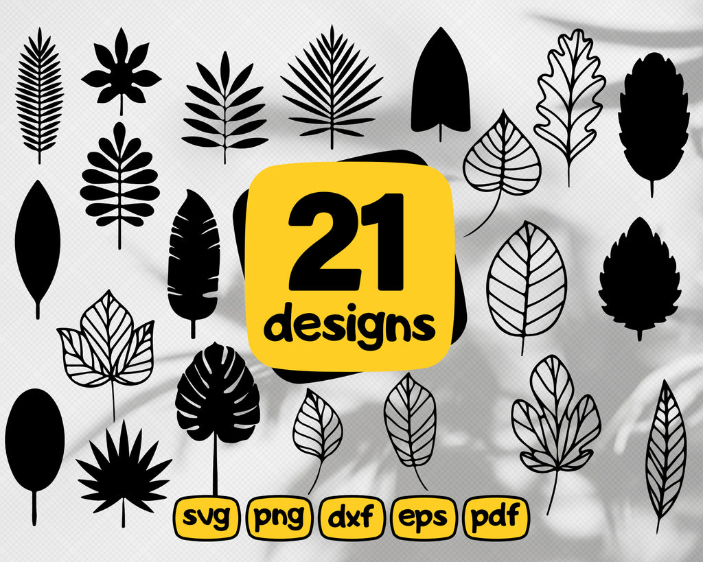 Leaves svg, leaves svg, leaf svg, foliage svg, botanical svg, plant svg, garden svg, gardening svg, palm leaves svg, fern svg, silhouette, cut file