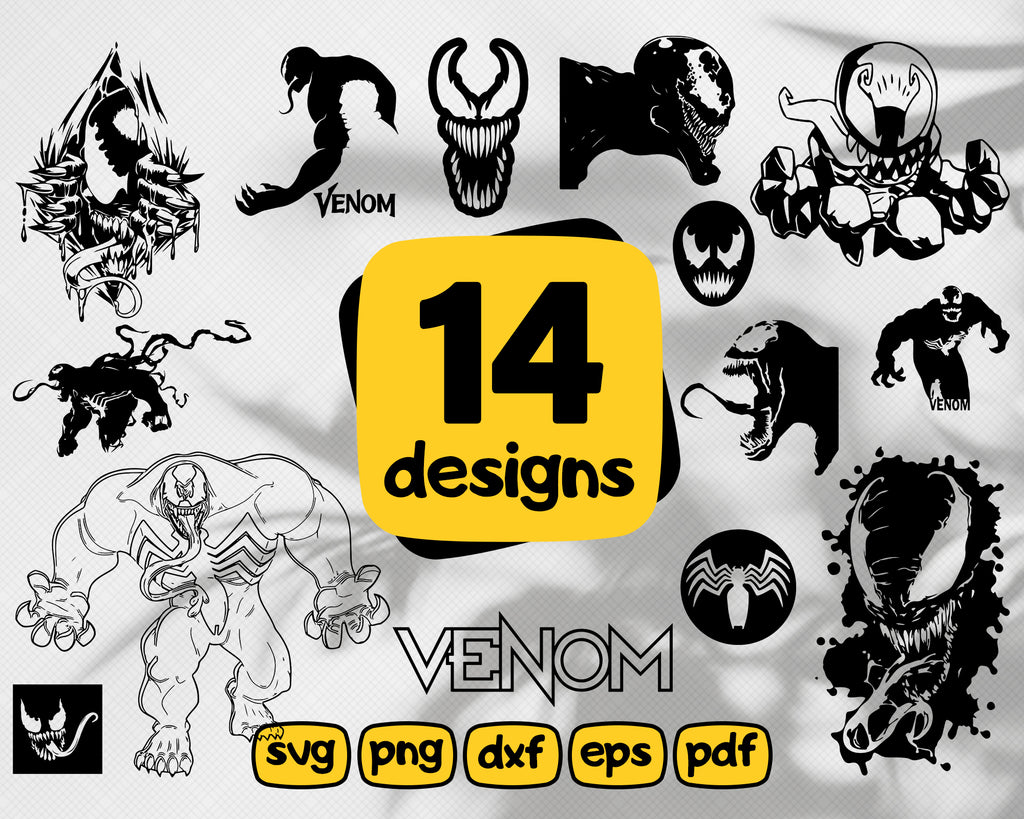Venom svg, Venom SVG, Venom Clip Art, Venom Cut File, Venom Vector, Venom Logo Svg, Superhero Svg, Files for Silhouette Cameo, Cricut