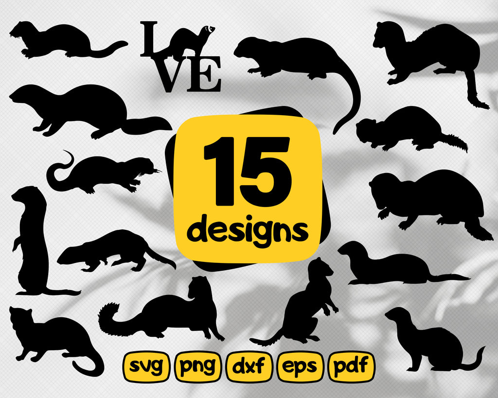 FERRET SVG, ferret clipart, ferret vector, ferret silhouette, pets svg, ferret drawing, ferret images, ferret digital image, ferret png