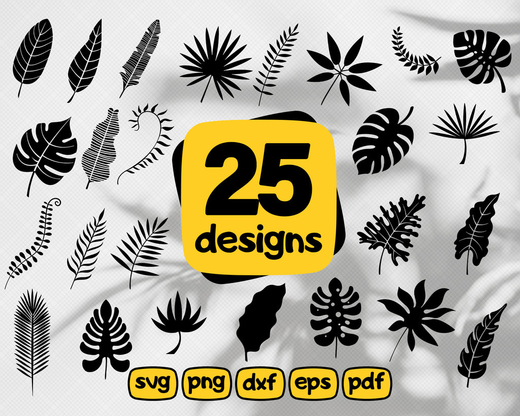Jungle leaves svg, Tropical Leaves Svg, Palm Leaves Bundle, Tropical Leaves Silhouettes, Tropical leaves bundle, Tropical Leaves Cut Files, Cricut file