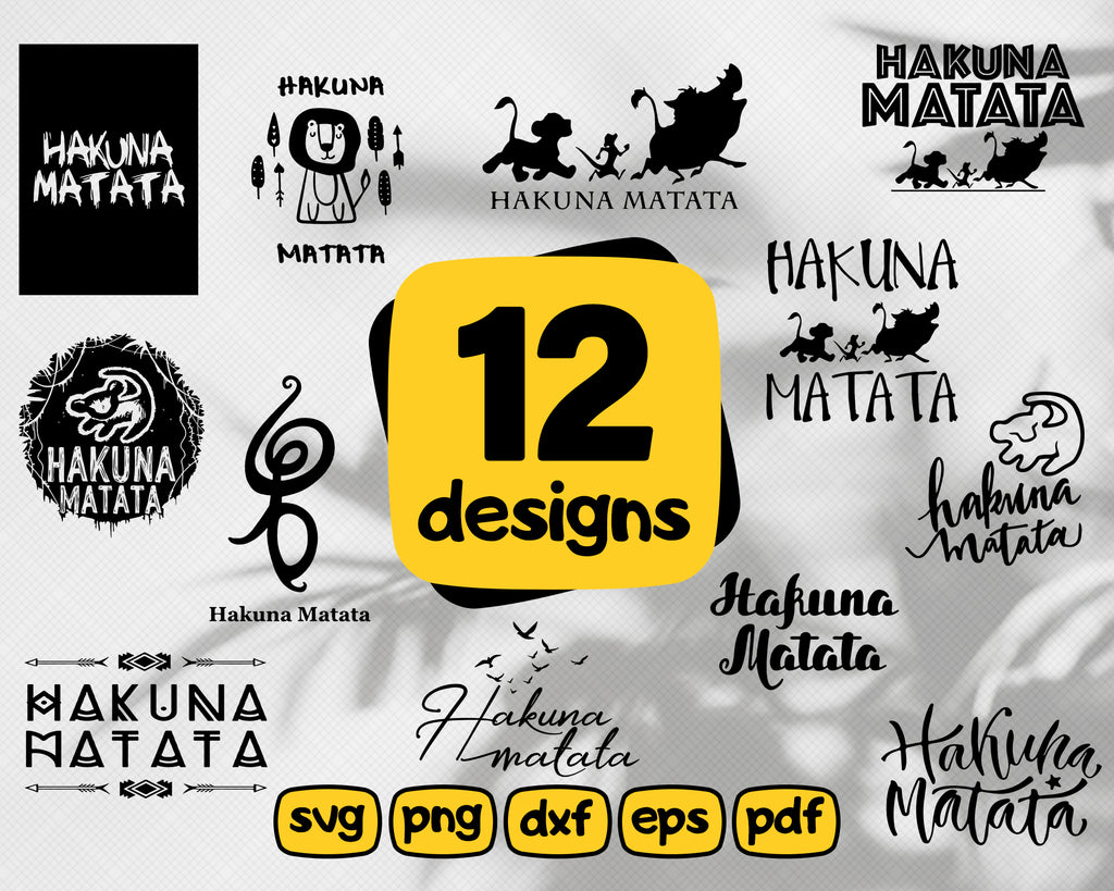 Hakuna matata svg, hakuna matata, Hakuna, Matata, Simba, Timon, Pumba, cartoon svg, chatacters svg, animals svg, animal, t-shirt print, hakuna matata print, svg