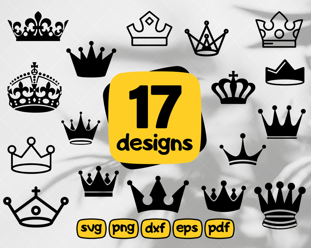 CROWN SVG BUNDLE / Crown cricut / Crown silhouette cameo / Crown vector / Crown cut file / King svg / Queen svg / King cricut / Queen cricut