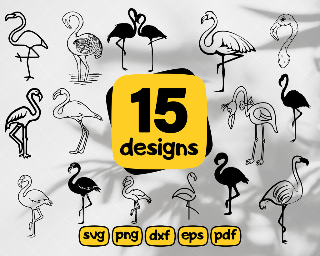 Flamingo svg, Flamingo Bundle Svg, Summer Cut File Svg, Flamingo SVG File for Cutting Machine, Silhouette Cameo, Cricut, Commercial Use Digital Designs