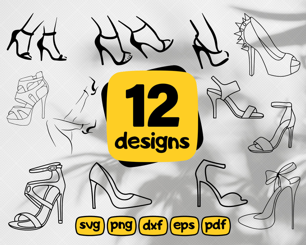 High heel svg, high heels SVG, Womens Shoes, shoes, woman svg,  High Heels, Beauty Glamour Svg, Girley Commercial Use, Cut File, Stiletto Clipart, SVG, DXF, Png, Eps