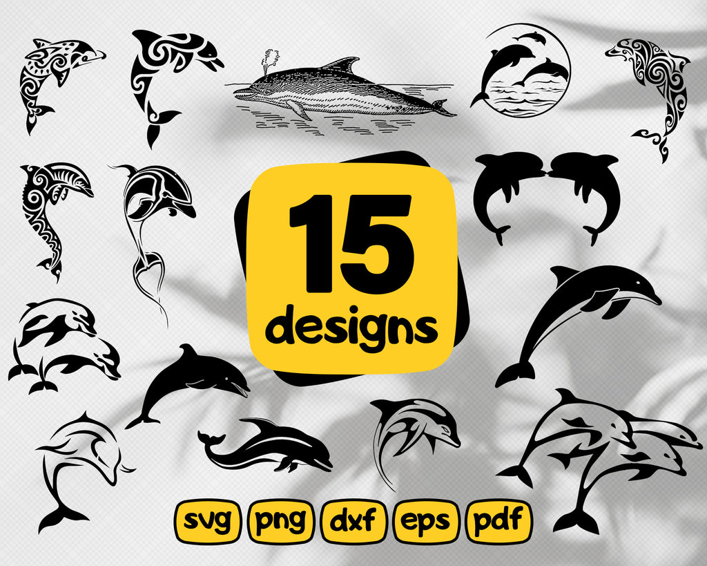 Dolpin svg, Dolphin SVG Bundle Dolphin SVG Dolphin Clipart Cut Files For Silhouette Files for Cricut Dolphin Vector Svg Dxf Png Decal
