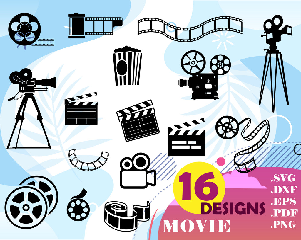 Movie svg, cinema, movie svg, cinema vintage svg, cinema clipart, movie film cinema, svg cut file, movie night svg,digital svg,cinema party
