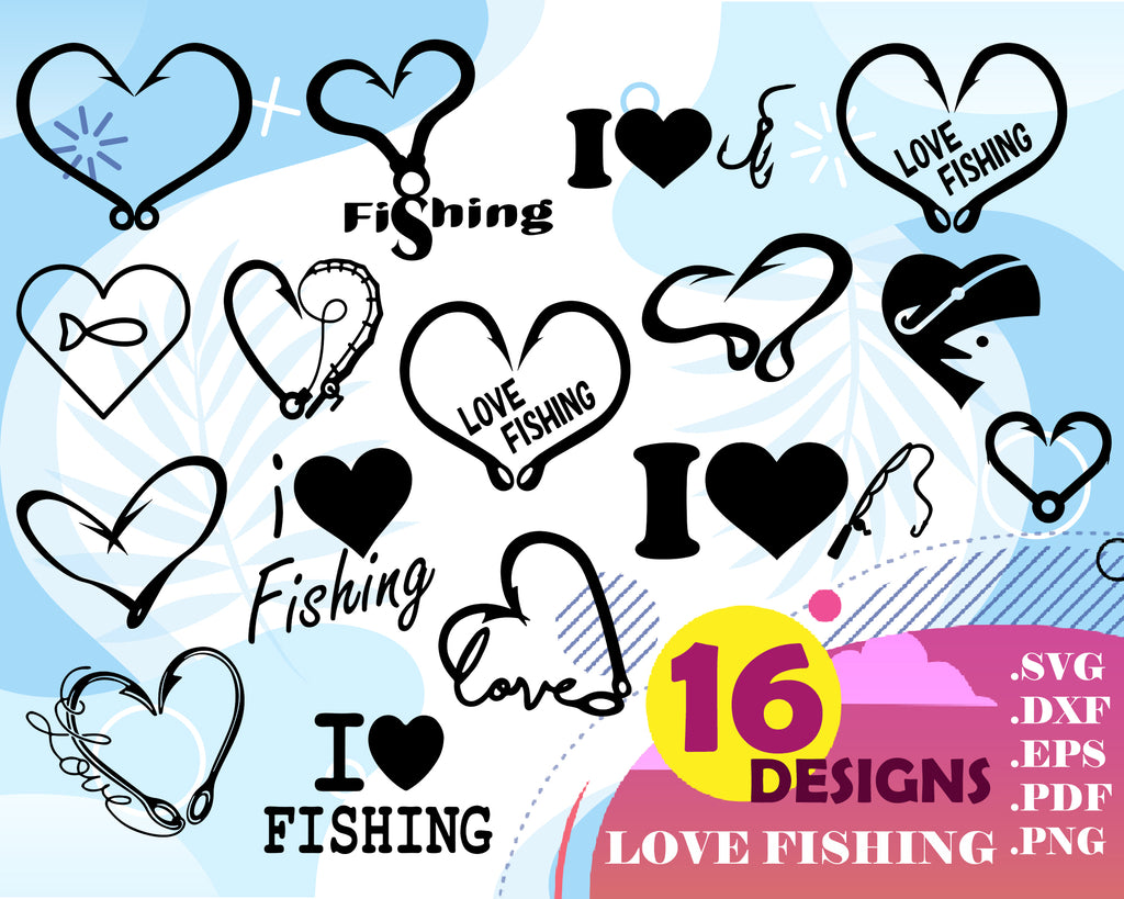 Download Love Fishing Svg Fishing Love Svg Png Fcm Eps Dxf Ai Cut Clipartic