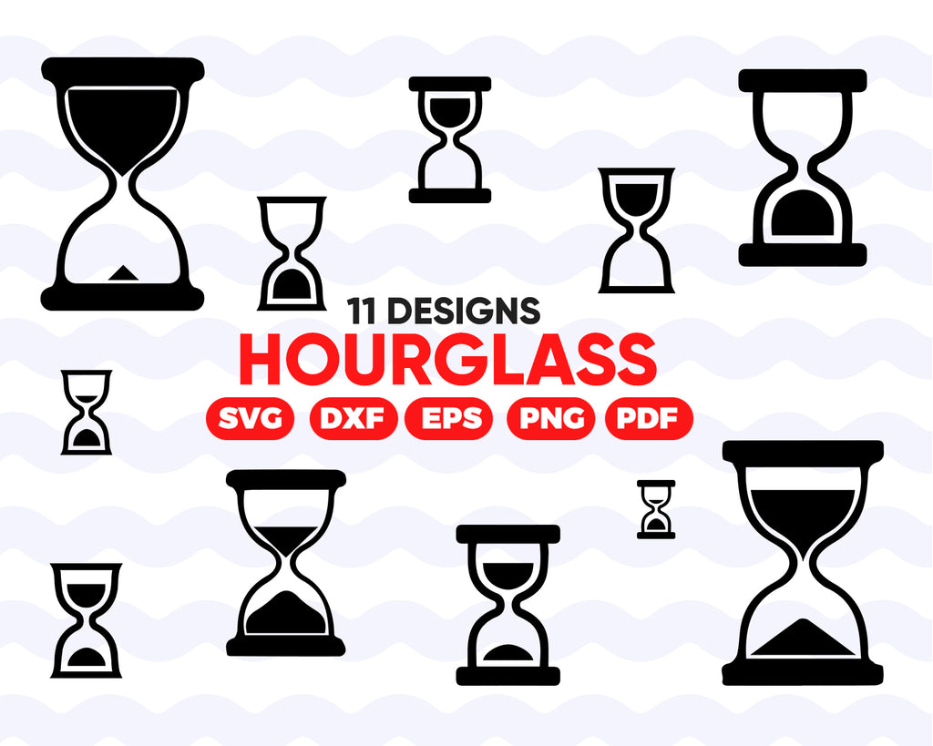 Hourglass SVG, Hourglass SVG Bundle, Time, Hourglass SVG, Decoration, Hourglass Clipart, Cut Files For Silhouette, Files for Cricut, Vector, Hour Glass Svg, Dxf, Png, Vinyl Design, Instant download