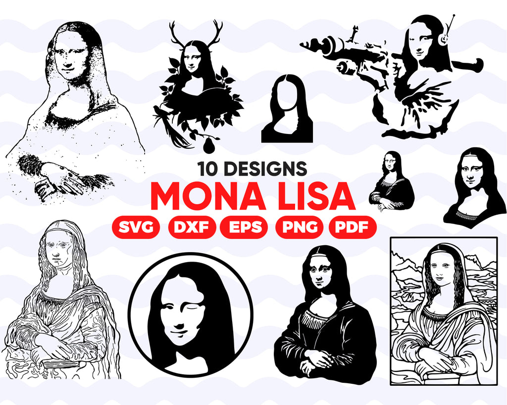 MONA LISA SVG, mona lisa, mona lisa, mona lisa vector,silhouette svg,mona lisa dxf,svg,svg cutting files,svg files for cricut,svg silhouette