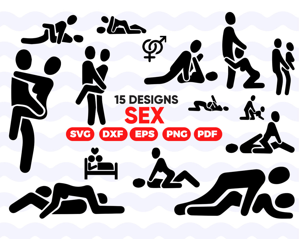 Sex SVG, Sexual Positions EPS, Foreplay Vector, Fuck Positions PNG, Sex Silhouette, Kama Sutra Set, Kamasutra Bundle, Fetish Cartoon, Orgasm, Instant Download