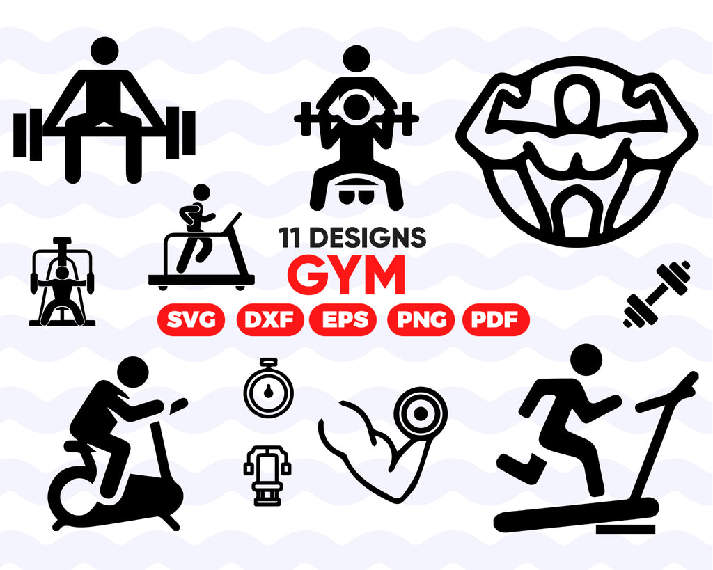 GYM SVG/ Workout cricut / Workout silhouette / Weightlifting SVG/ Weights Clipart/ Power Lifting Svg/ Workout vector / Gym cut file / Gym svg / Gym clipart / Gym download