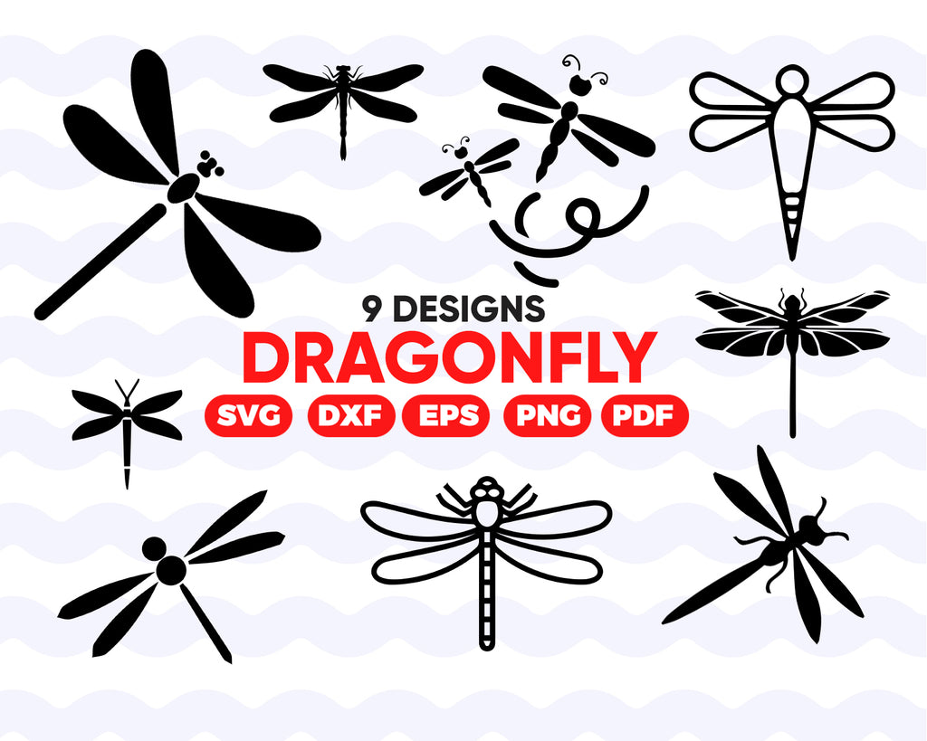 Dragonfly SVG/ dragonfly clipart/ insect svg/ dragonfly vector/ clipart/ decal/ stencil/ vinyl design/ cut file/ iron on/ silhouette/ instant download