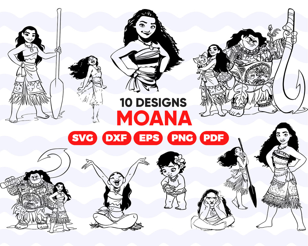MOANA SVG, moana clipart, moana, svg file, moana printable,svg files,moana cut file,funny svg,svg bundle,silhouette svg,svg files for cricut