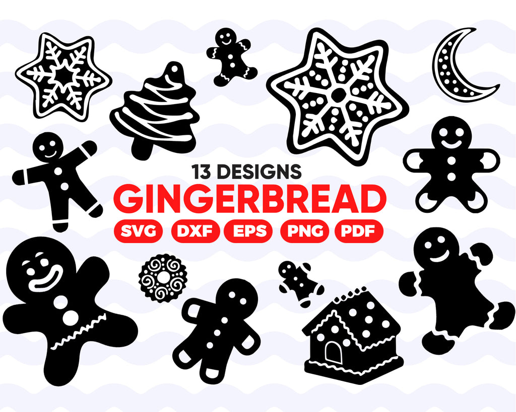 Gingerbread SVG, gingerbread man, gingerbread man, svg files for cricut, gingerbread, cookie svg, silhouette svg, gingerbread cut file