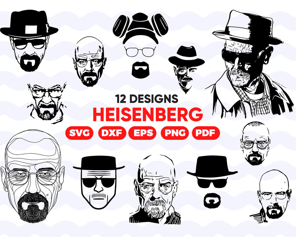 HEISENBERG SVG, heisenberg, breaking bad svg, walter white svg, heisenberg dxf, heisenberg cut, funny svg design, svg cut, super dad svg,svg