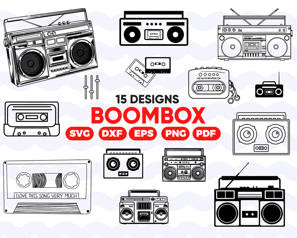 BOOMBOX SVG BUNDLE / Boombox cricut / Boombox silhouette cameo / Boombox vector / Speakers svg / Speakers clipart / Speakers download