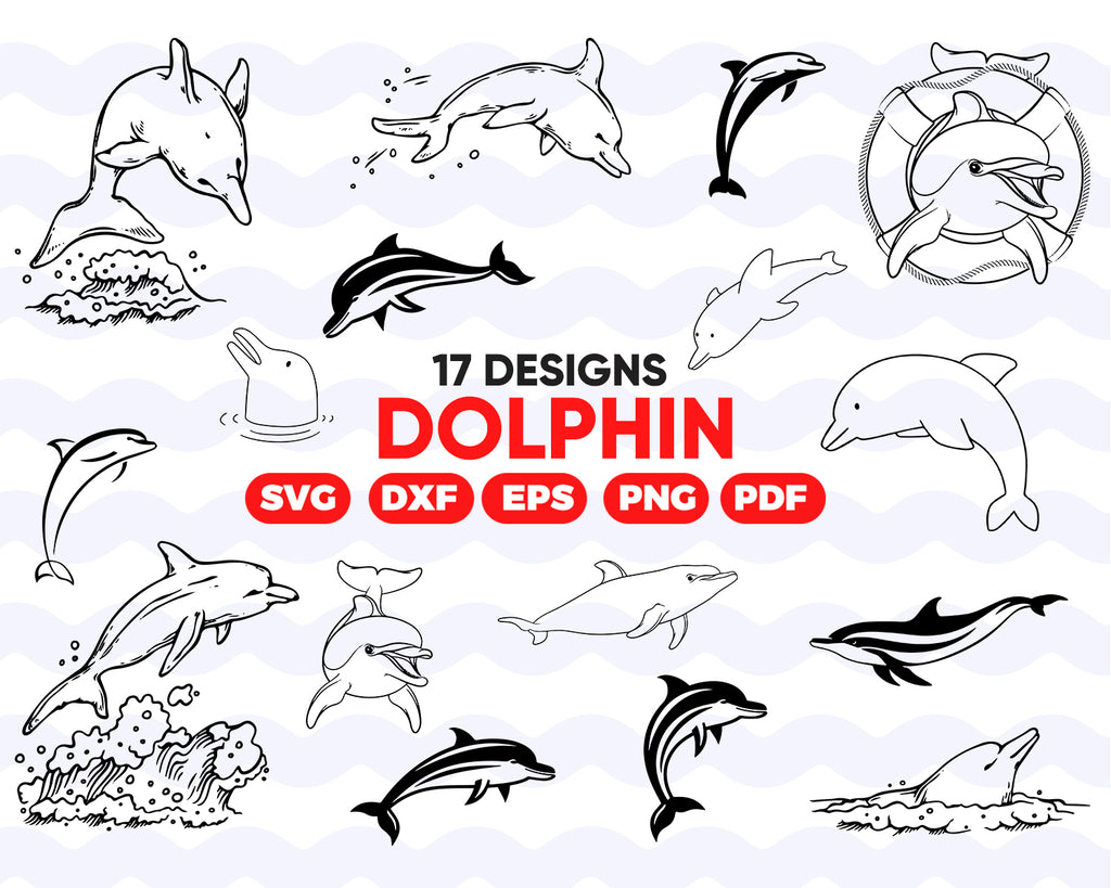 Dolphin SVG, Dolphin Vector, Beach svg, Dolphin Cricut, Dolphin Silhouette, Beach cut file, Sunset SVG, Dolphin clip art svg eps png dxf jpg
