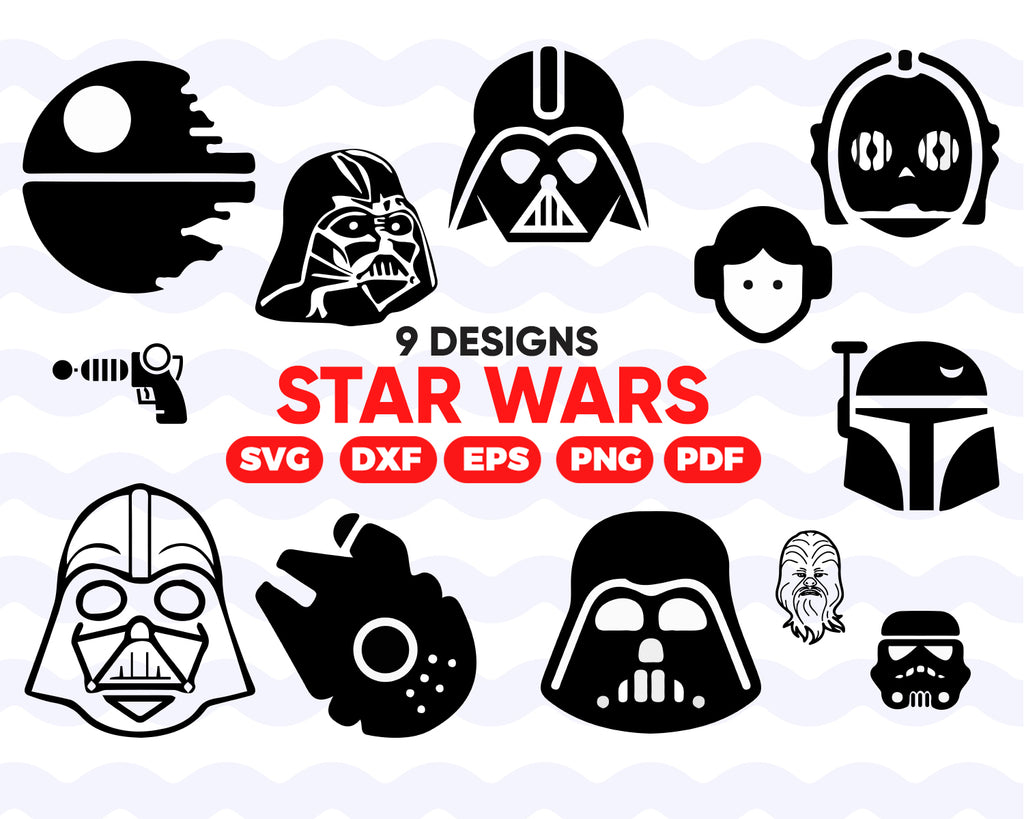 STAR WARS SVG, Trooper svg, vader svg, Star Wars clipart, Star Wars svg bundle, Star Wars stencil, star wars vector, cutting file, vader dxf