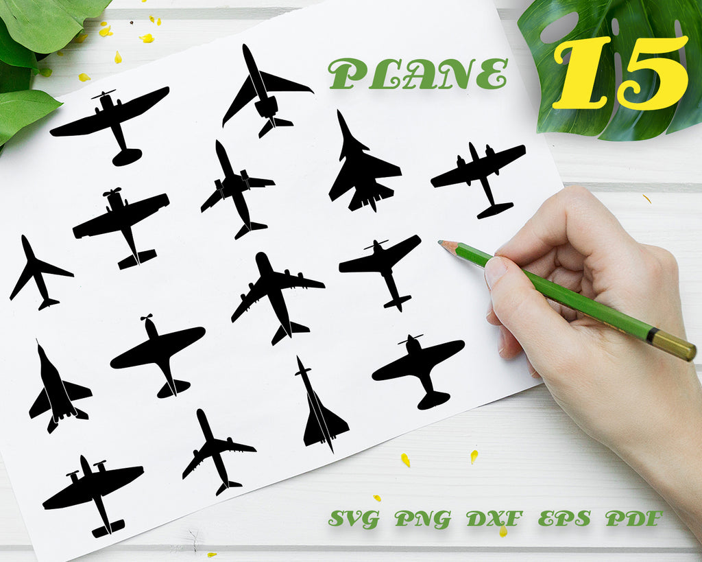 PLANE SVG/ Airplane Svg/ Biplane SVG/ War plane SVG/ Military plane/ Airplane Clipart/ Biplane / Aeroplane/ Silhouette/ Transport/ SVG Files for Cricut/ Silhouette/ Digital Download
