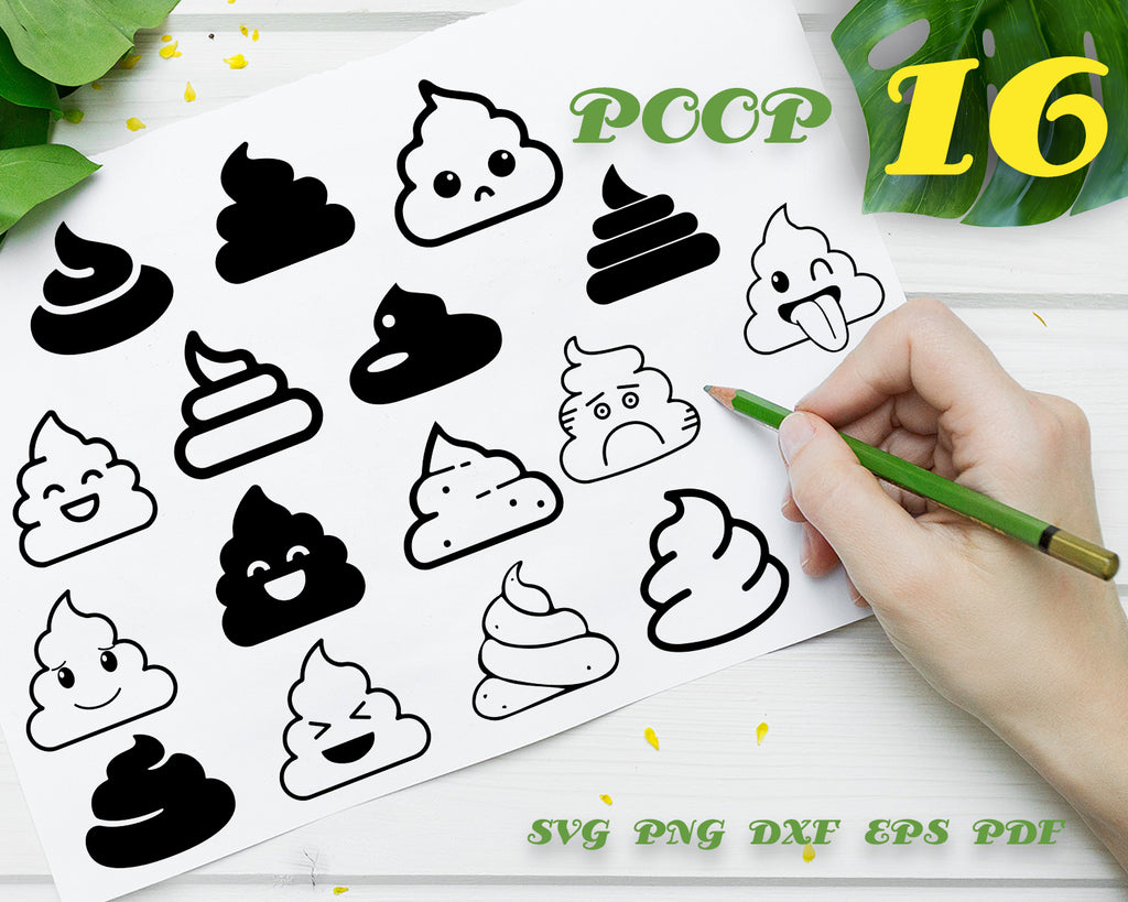 POOP SVG, Poop bundle, poop vector, emoji svg, vinyl design, poop clipart, funny svg, bathroom svg, toilet svg, toilet paper svg, emoji clipart, digital download