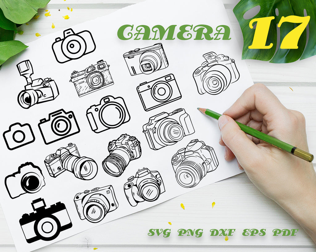 Camera svg, Camera svg/ photographer svg/ photography svg/ photo taking svg/ selfie svg/ tripod svg/ camera tripod svg/ DSLR svg/ clipart/ silhouette