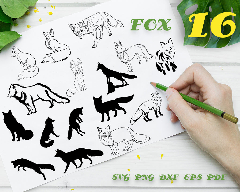 FOX SVG / wildlife animals / cute fox svg / fox head svg / baby fox svg / animal svg / cut files / svg files / cricut / silhouette / print files / vector design
