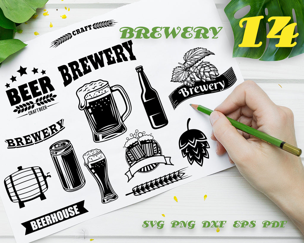 Brewery line icons | Beer icon illustrations | EPS AI PNG | Digital Download for design, social media, web, die-cut