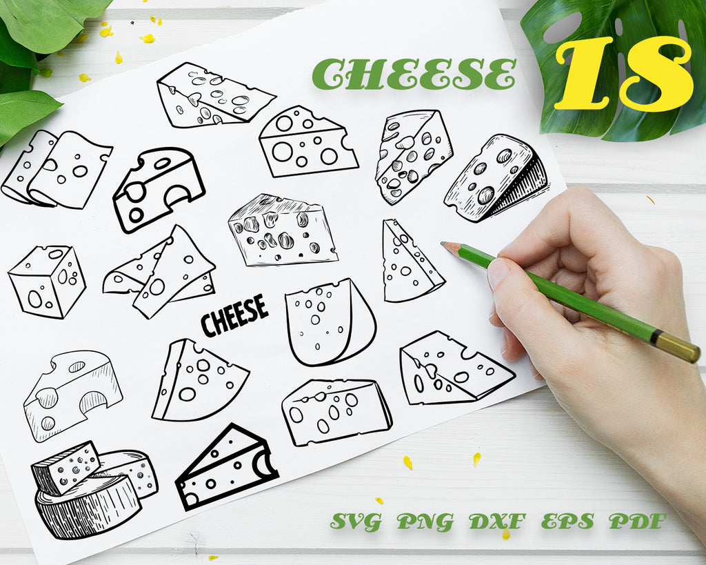 Cheese svg, Cheese SVG Bundle, Cheese SVG, Cheese Clipart, Cheese Cut Files For Silhouette, Files for Cricut, Cheese Vector, Svg, Dxf, Png, Eps, Design