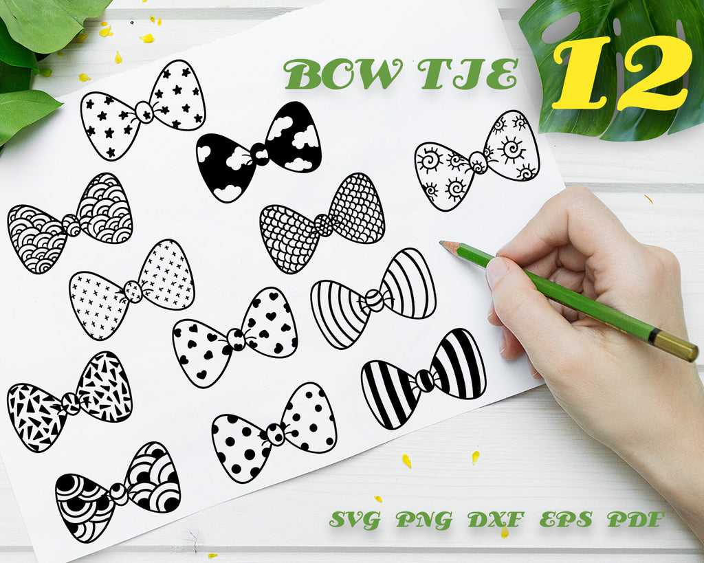 Bowtie svg,Bow Tie SVG Bundle, Bow Tie SVG, Bow Tie Clipart, Bow Tie Cut Files For Silhouette, Files for Cricut, Vector, Bowtie Svg, Dxf, Png, Design