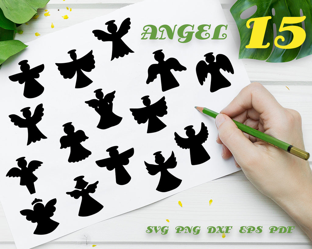Wings svg / angel wings / wings cut file / wing svg / angel vector / cut file / cricut / clipart / silhouette files / stencil file / instant download