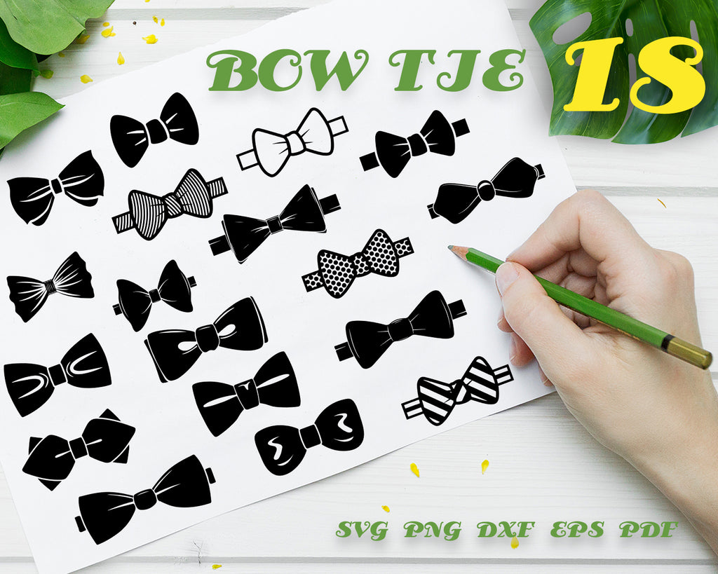 Bow Tie SVG Bundle, Bow Tie SVG, Bow Tie Clipart, Bow Tie Cut Files For Silhouette, Files for Cricut, Vector, Bowtie Svg, Dxf, Png, Design