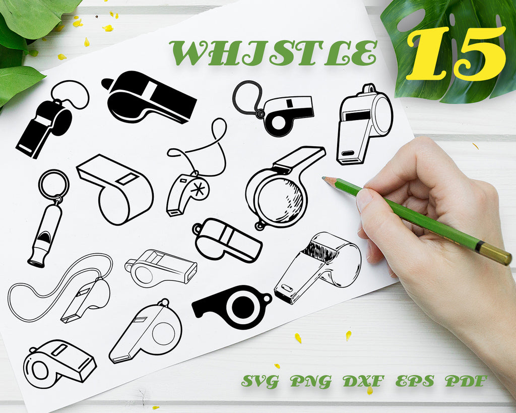 WHISTLE SVG, Coach Whistle Svg, Sports Whistle Clipart, Whistle Clipart, Whistle Silhouet File, Dxf Cutting File, Png, Clip Art Image, Digital Design